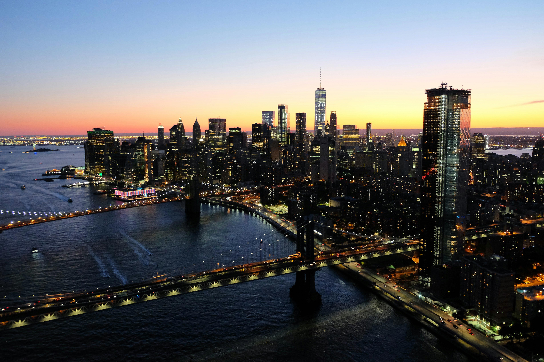 NYC Sunset Skyline High Quality Wallpaper