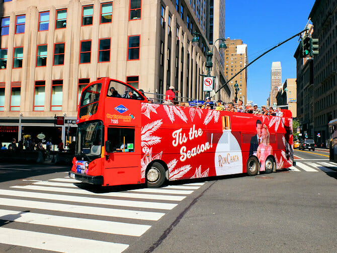 Gray Line Hop on Hop off -bussi New Yorkissa