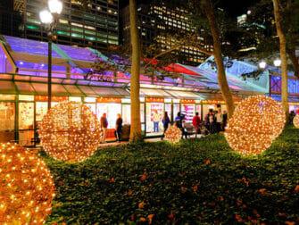 Joulumarkkinat New Yorkissa - Bryant Park
