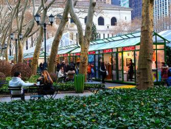 Joulumarkkinat New Yorkissa - Bryant Park Market