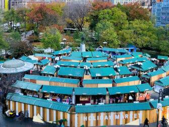 Joulumarkkinat New Yorkissa - Union Square