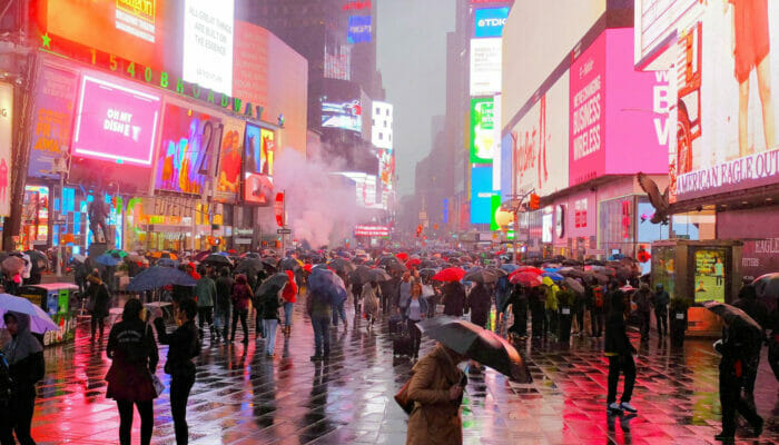 New York sateella - Times Square