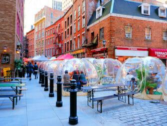 New York rokottaa turisteja - Stone Street New Yorkissa