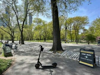 Sähköpotkulaudan vuokraus New Yorkissa - Central Park