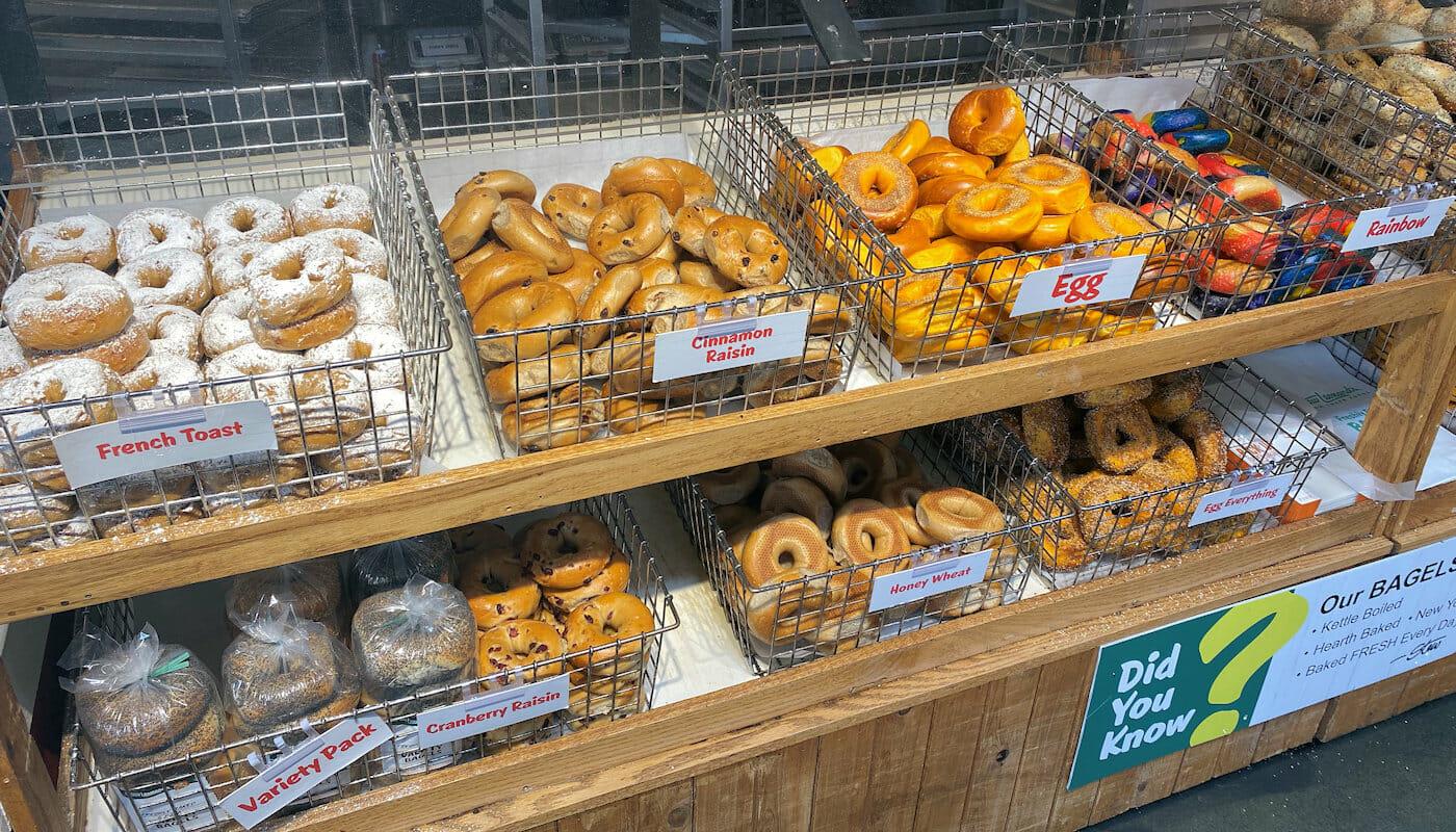 Parhaat bagelit New Yorkissa - Supermarket